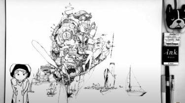 【松村上久郎】本や画集・スケッチブックをチェック!素顔は?ペン絵のお絵かき動画やおしりの書き方・ニコの旅Vの実況もご紹介
